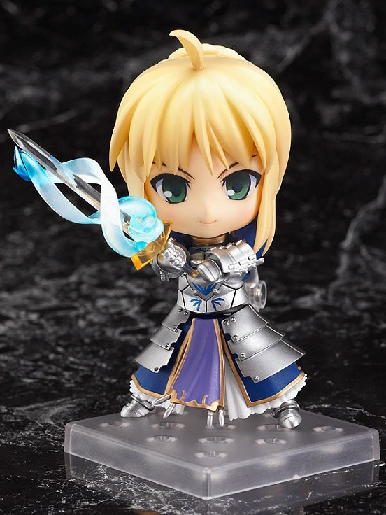 Q-Version Nendoroid Fate Stay Night Saber Lily Anime Figure Brinquedos PVC Action Figure Collectible Model Doll Gift Kids Toys anime konosuba god s blessing on this wonderful world aqua 630 nendoroid doll pvc action figure collectible model toys