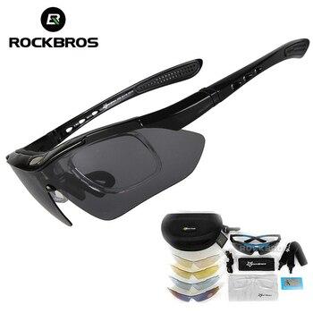 1e10a0c66e ROCKBROS los 5 lentes UV400 gafas de Ciclismo para bicicletas Ciclismo  gafas polarizadas deportes al aire