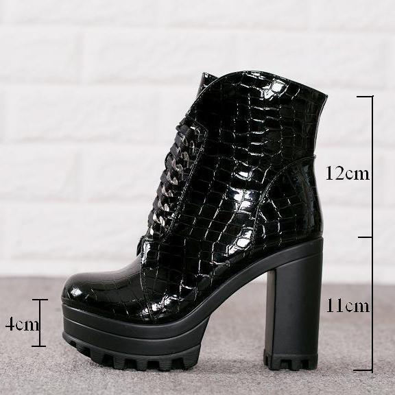 Plate Bottes Lacets Souple Mode Chaussures En Hauts 2018 Cuir 41 Européens forme Femmes Talons Femme 36 Wxwswz Martin À Taille vtfAqw4n