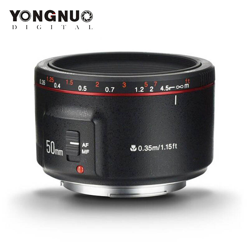 YONGNUO YN50mm F1.8 II <font><b>Lens</b></font> EF 50mm AF MF Camera <font><b>Lens</b></font> for <font><b>Canon</b></font> 700D 750D 800D <font><b>80D</b></font> 6D 7D 5D Mark II III IV 5DS 1300D 1500D 77D image