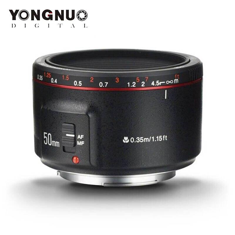 YONGNUO YN50mm F1.8 II objectif EF 50mm AF MF objectif de caméra pour Canon 700D 750D 800D 80D 6D 7D 5D Mark II III IV 5DS 1300D 1500D 77D
