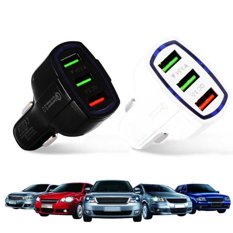 3 USB QC 3.0 Fast Car Charger Quick Charge 3.0 for iPhone Samsung Xiaomi HTC GPS