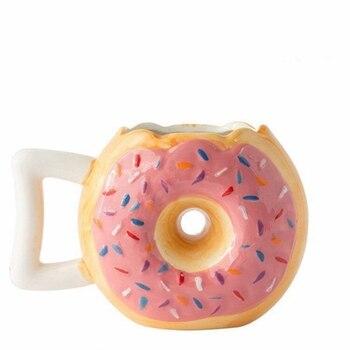 Ceramic Donut Mug  Delicious Glaze Doughnut with Sprinkles  Donuts coffee  mug  Best Cup For Coffee, Tea, Hot dispensador de cereal peru