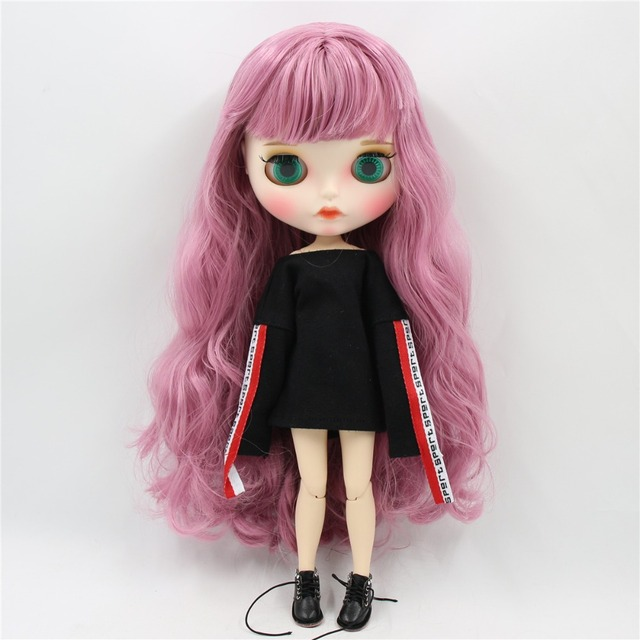 Emilia – Premium Custom Blythe Doll with Clothes Pouty Face