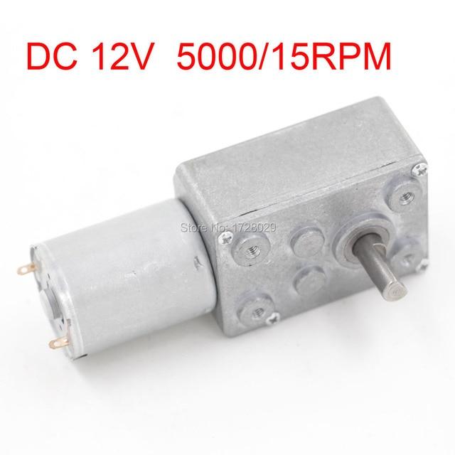 Gear Box Motor DC 12V 5000/15RPM JSX3300-370 DC Worm Reducer Motor Geared 12V