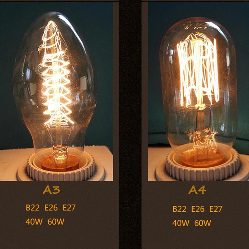 Lâmpadas Incandescentes incandescente edison st64 edison lâmpada Fluxo Luminoso : 300
