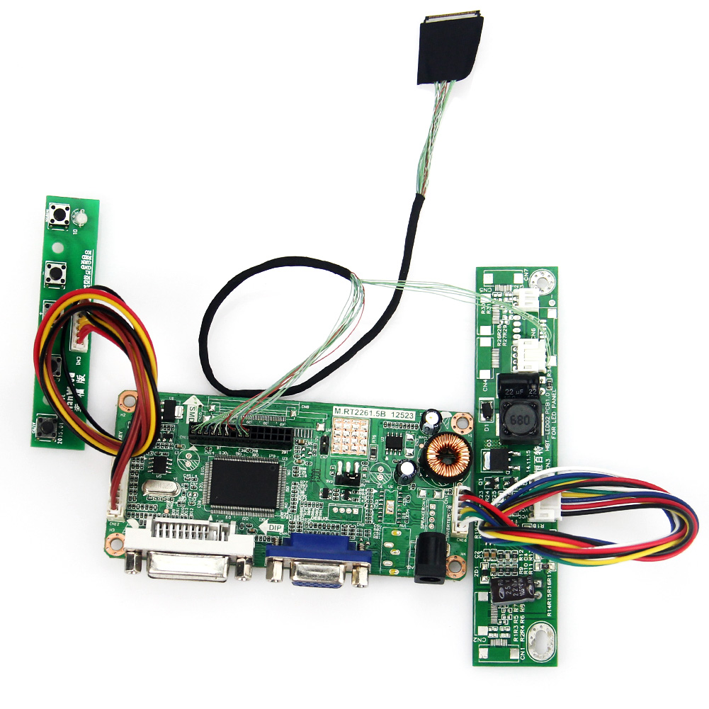 M.R2261 M.RT2281 LCD/LED Controller Driver Board(VGA+DVI) For LTN154BT02 B154PW04 1440x900 LVDS Monitor Reuse Laptop
