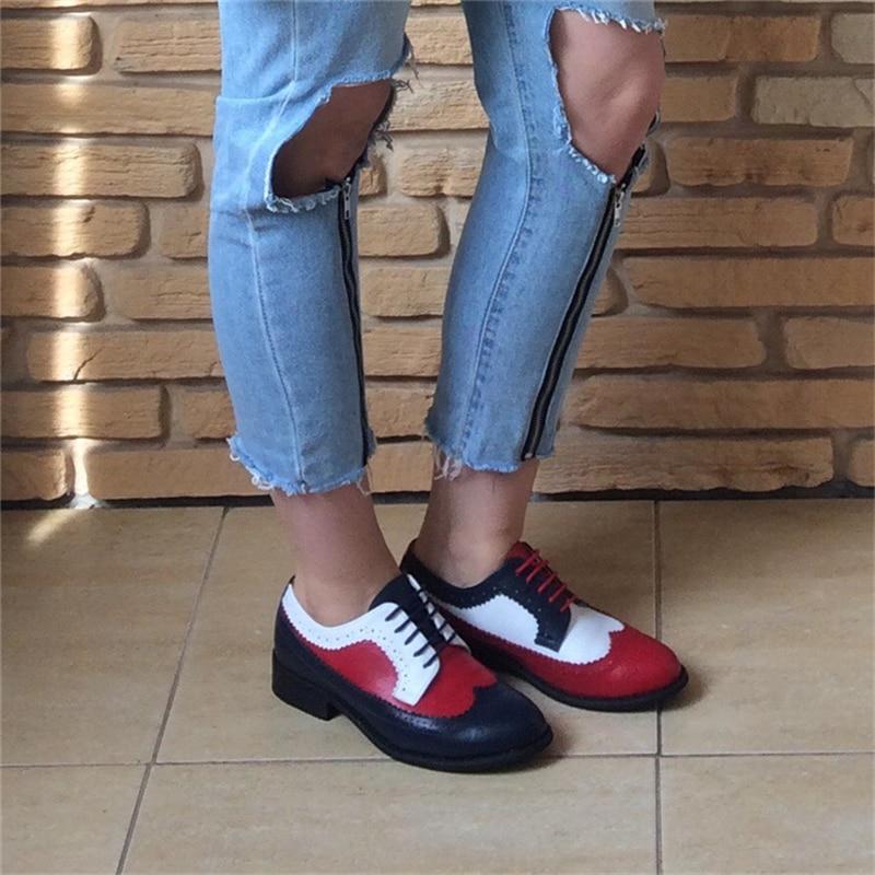 Zapatos oxford de mujer zapatos mocasines de cuero genuino para mujer zapatillas de deporte mujer oxfords solo zapatos correa 2019 zapatos verano