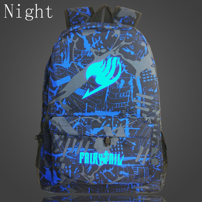 2017 New Japan Anime Printing Backpack Fairy Tail Luminous Backpacks For Teenagers Boy Girls School Bags Travel Rucksack Mochila fairy tail shoulders school bags anime canvas luminous printing backpack schoolbags for teenagers mochila feminina