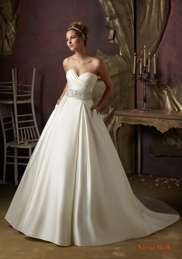 Vnaix W1185 Puffy Mermaid Wedding Dresses Strapless with