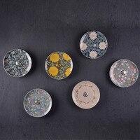 Temporada de cerámica placa colgante decoración de la decoración del hogar de la superficie estéreo pared muones