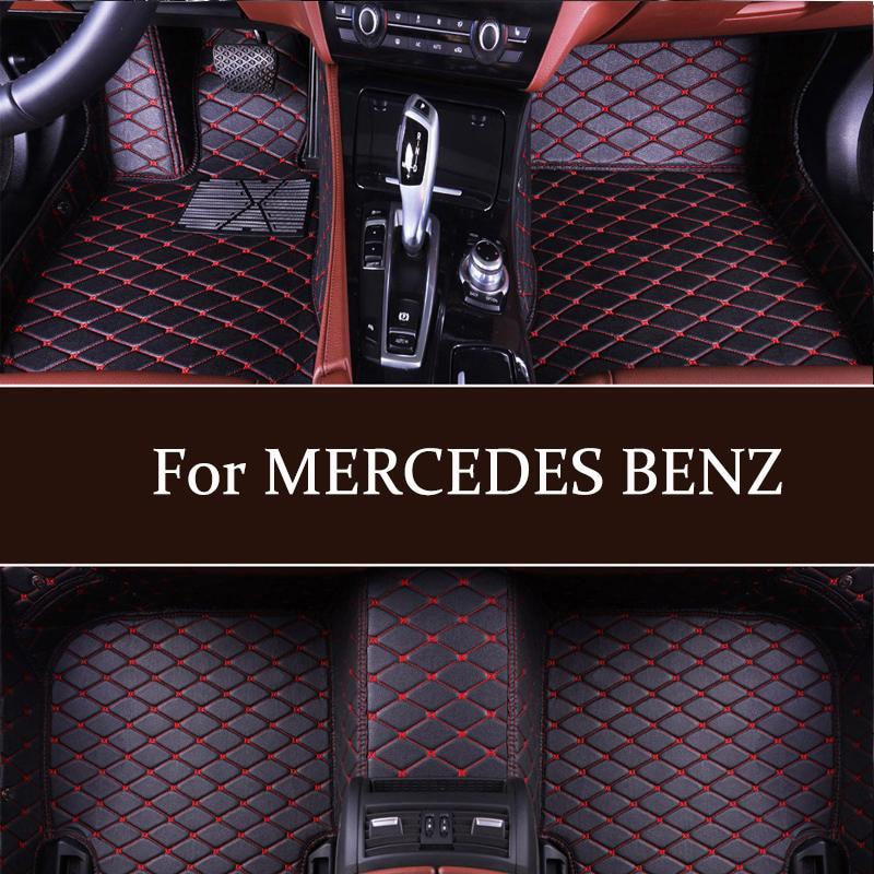 Özel lüks araba paspaslar MERCEDES BENZ W169 W176 W245 W246 W203 W204 W205 W211 W212 W213 W207 W126 w140 W463 tüm sınıf