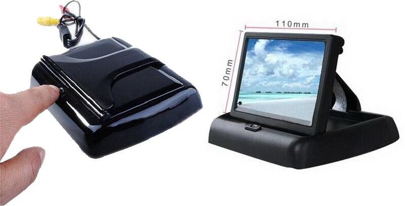 """Foldaway 4,"""" 4,3 дюймов TFT ЖК-дисплей монитор Автомобильный dvd-плеер ЖК-монитор цветной автомобильный монитор заднего вида для камеры заднего вида автомобиля"""