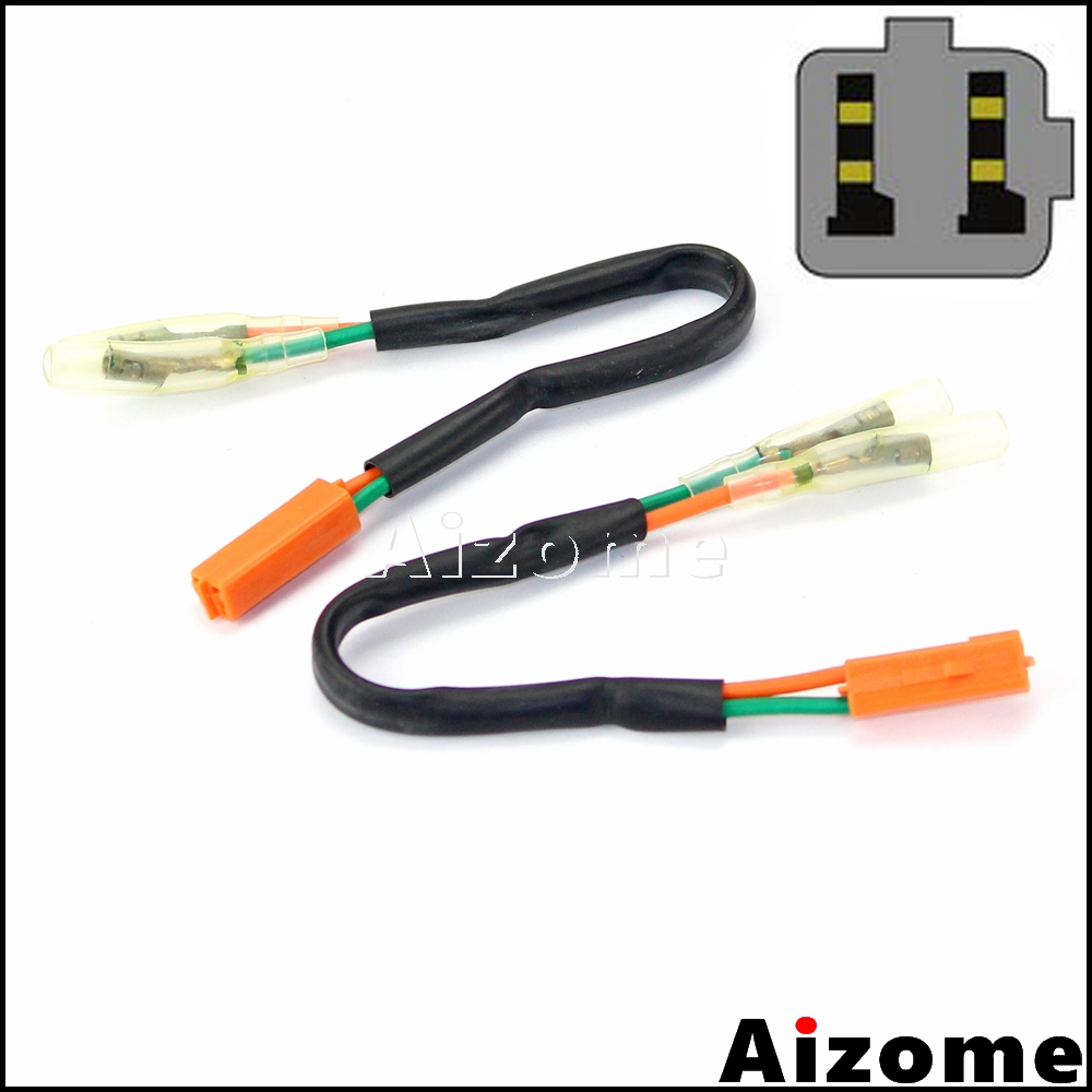 2x rear turn signal wiring adapter plug harness connectors. Black Bedroom Furniture Sets. Home Design Ideas