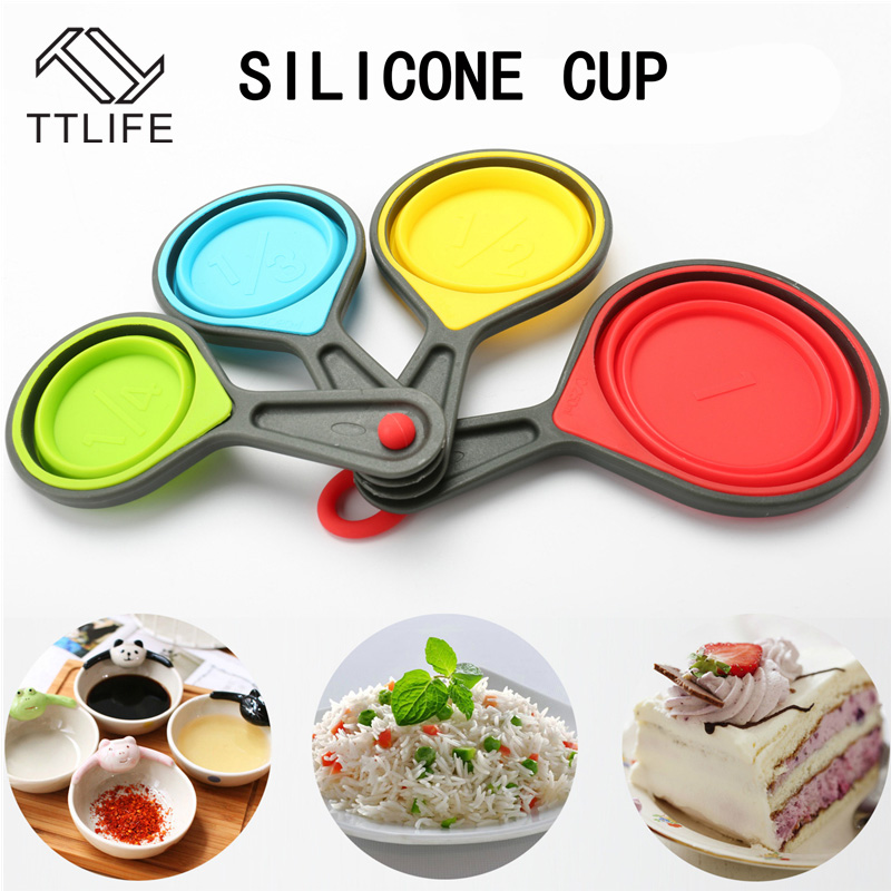 TTLIFE Candy Color Portable Silicone Folding Collapsible
