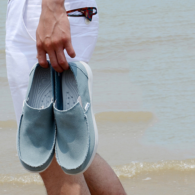 2017 Fashion Summer Men Canvas Shoes Breathable Casual Shoes Men Shoes Loafers Comfortable Ultralight Lazy Shoes Flats