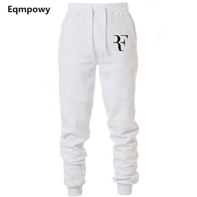 d75ac4e6f61ac4 Mens Joggers Casual Roger Federer RF Pants Fitness Men Sportswear Tracksuit  Bottoms Sweatpants Trousers Black Jogger