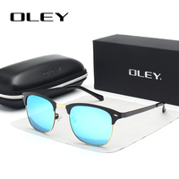 OLEY Classic Circular Polarized Sunglasses Women HD Polaroid Lenses Fashion Glasses Driving Outdoor Activities Anti UV