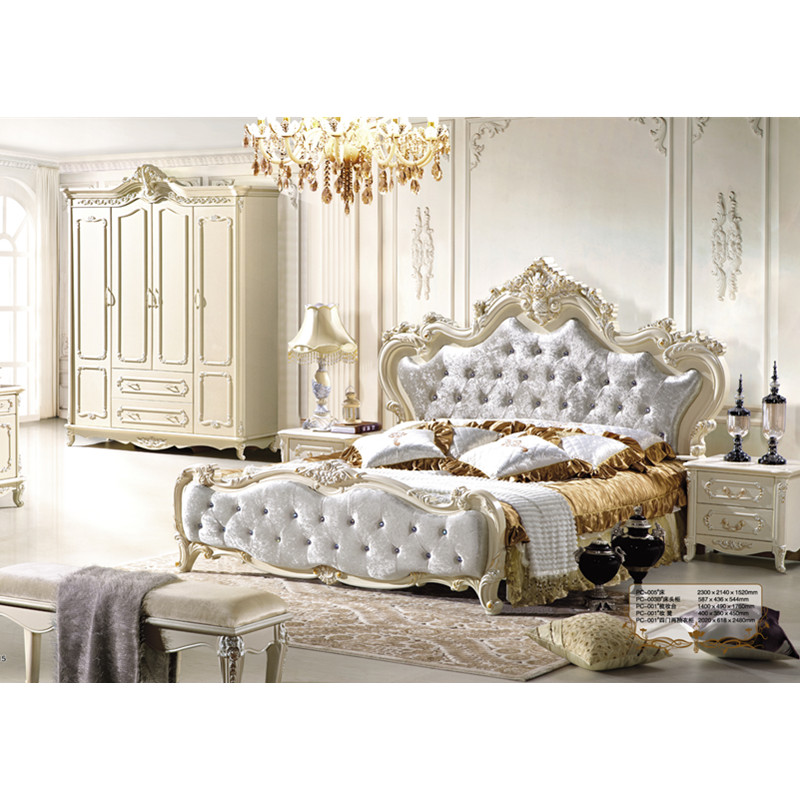 US $1499.0 |Italian Royal Bedroom Furniture, Luxury Upholstered Canopy  Bed-in Bedroom Sets from Furniture on AliExpress - 11.11_Double 11_Singles\'  Day