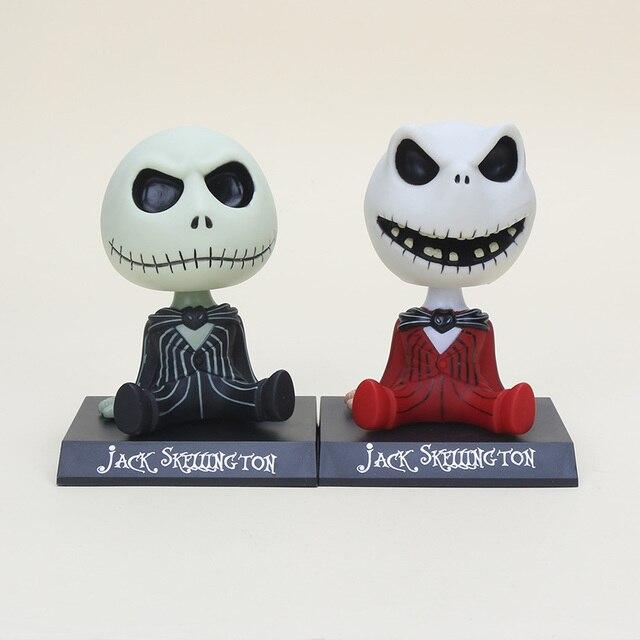 Jack Skellington de 10 cm: La pesadilla antes de la Navidad, cabeza de gato, figura de PVC, juguetes de acción, colección de muñecas, regalos