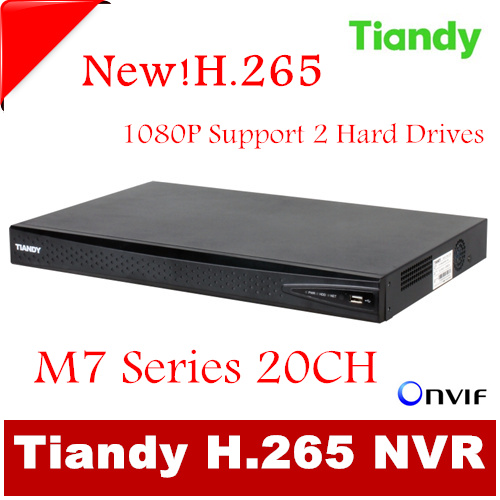 Original Tiandy H.265 20CH NVR TC-NR2020M7-S2 1080P Support Onvif p2p USB and 2pcs of 4T Hard Disk Network video recorder