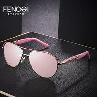 FENCHI Sunglasses Women Driving Pilot Design luxury brand shades pink mirror trendy Sun glasses oculos de grau feminino