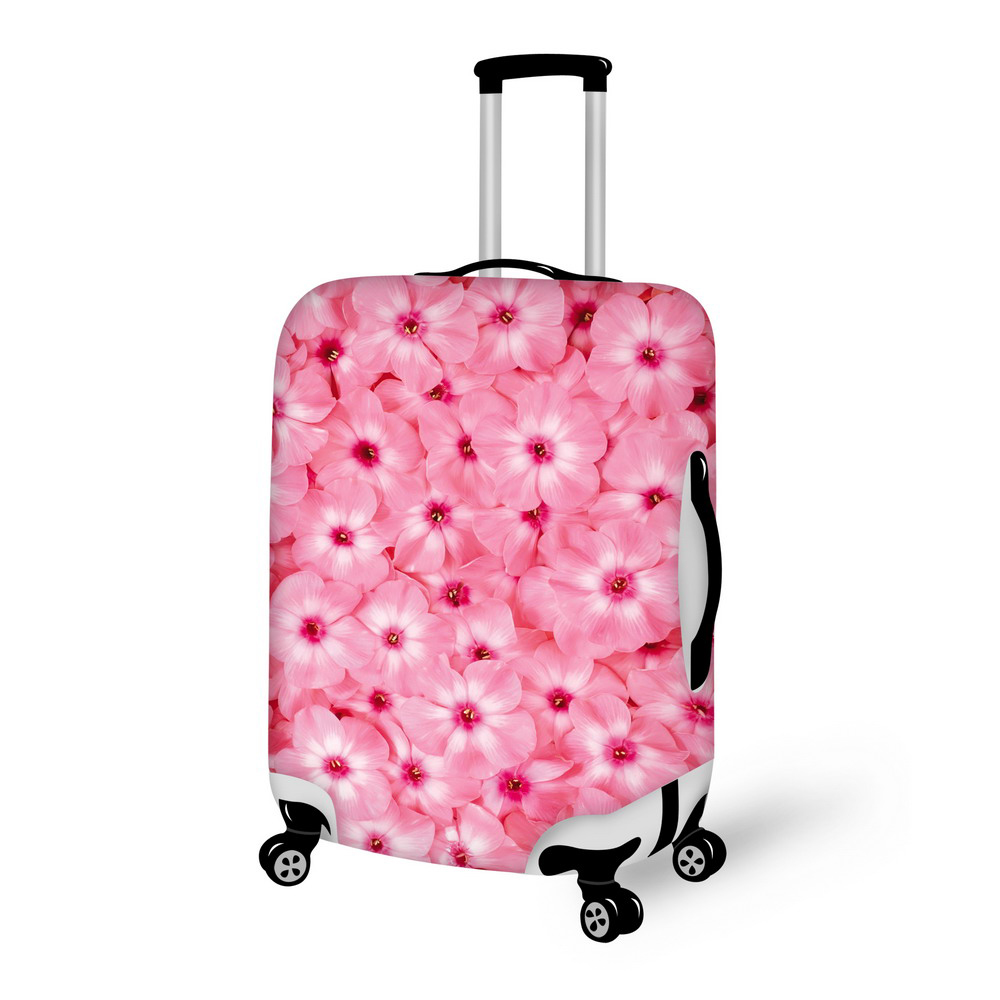 Beautiful Print Flower Colorful Luggage Cover Protective Suitcase Cover Suit For Carry On Baggage Case Bag Travel
