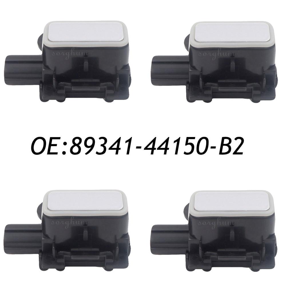 4PCS 8934144150B2 89341-44150-B2 Bumper Parking Distance Control PDC Sensor For Lexus GS300 350 430 450 460  Premium Silver 4pcs pdc ultrasonic parking distance control sensor for gm 20942073 0263013251