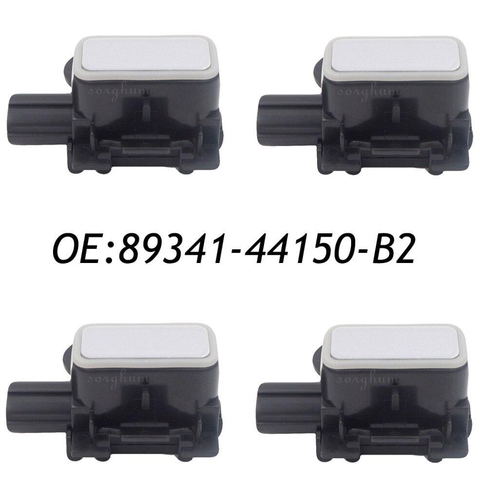 4PCS 8934144150B2 89341-44150-B2 Bumper Parking Distance Control PDC Sensor For Lexus GS300 350 430 450 460  Premium Silver new set 4 89341 0c010 42342 parking ultrasonic sensor for toyota tundra 2014 2015 left right 0c010 42342