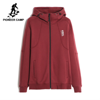 Pioneer Camp Casual Solid Spring Men Jacket Brand Clothing Fashion Hooded Comfortable Fleece Male Coat 100