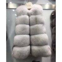 Натуральный Лисий Мех животных жилет Пояса из натуральной кожи куртка