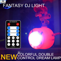 Led Stage Lights Remote Control Water Ripple Lamp Flame Light 7 Colors Dynamic Water Lamp USB Car Little Magic Ball Laser Light