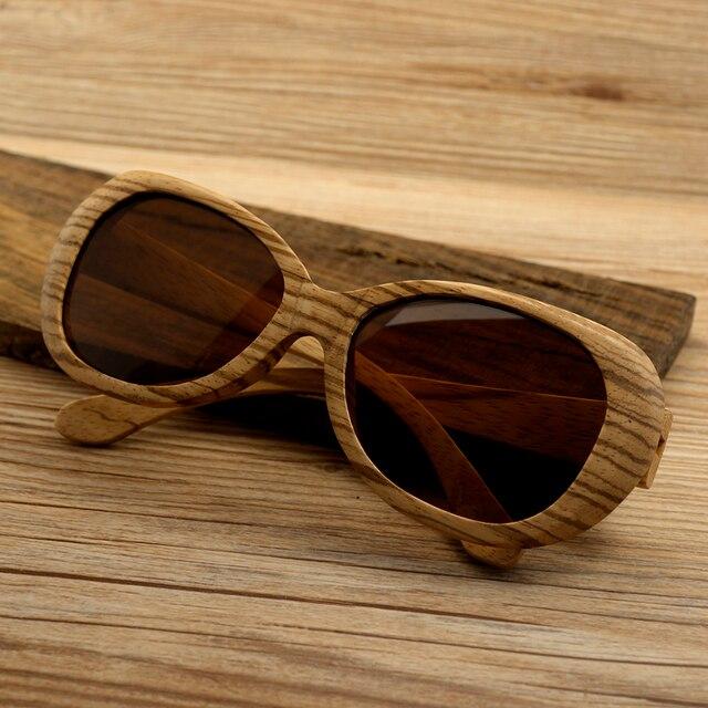 BOBO de AVES G008 Zebra Wood gafas de Sol polarizadas de Los Hombres Retro De los Hombres Y Mujeres De Lujo Hecho A Mano De Madera gafas de Sol Rojizo lente