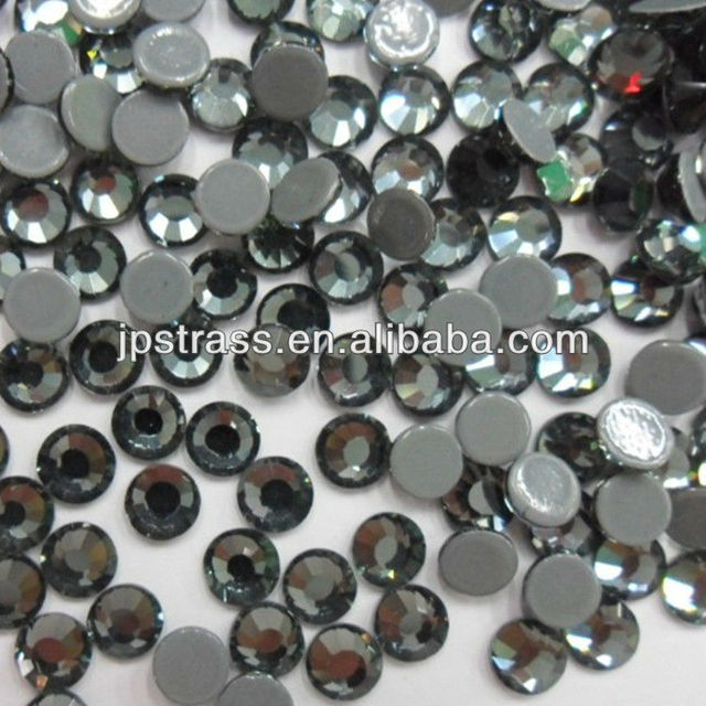 China Wholesale Austrian hotfix rhinestone SS16 black diamond color 4mm  with 1440pcs each pack free shipping