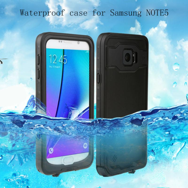 imágenes para Bajo el Agua 2 m IP68 Impermeable Del Caso Para Samsung Galaxy Note5 completo Sellado Caso Cubierta Del Teléfono para la Nota 5 de Agua A Prueba de Golpes resistente