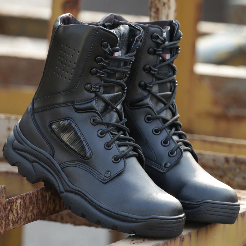 Men Tactical Boots Military Combat Training Boots Waterproof Sports Hiking Men's Desert Breathable Fighting Boots Lightweight