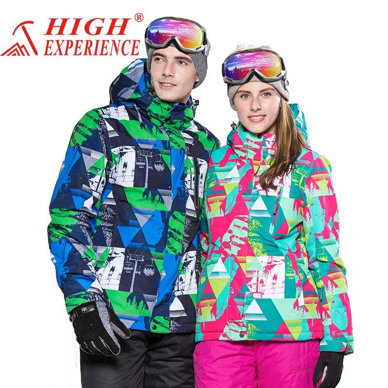 Prix pour Nouveau Couple Ski Veste D'hiver En Plein Air de Neige Coton Sportswear femmes & hommes Chaud Manteau Imperméable et Coupe-Vent Veste de ski chaud