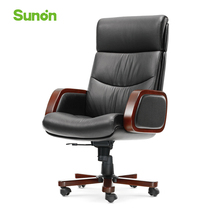 Genuine Leather Boss Chairs for Office Furniture High Quality Lying Computer Chairs Wood Arm Ergonomic Office Chair