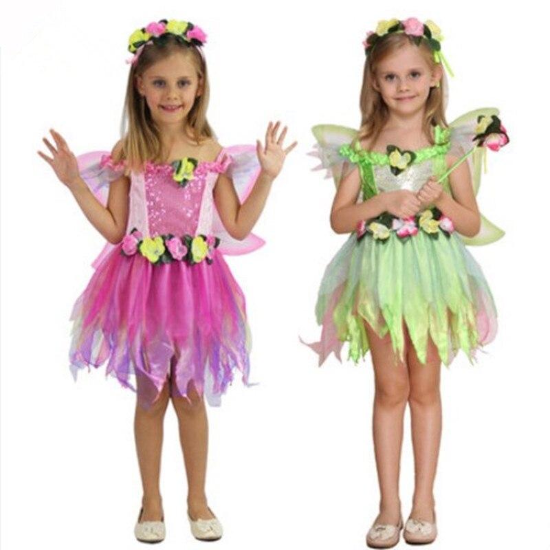 fairy costume girls costume children performance wear birthday dress butterfly costume flower costume for girls novelty