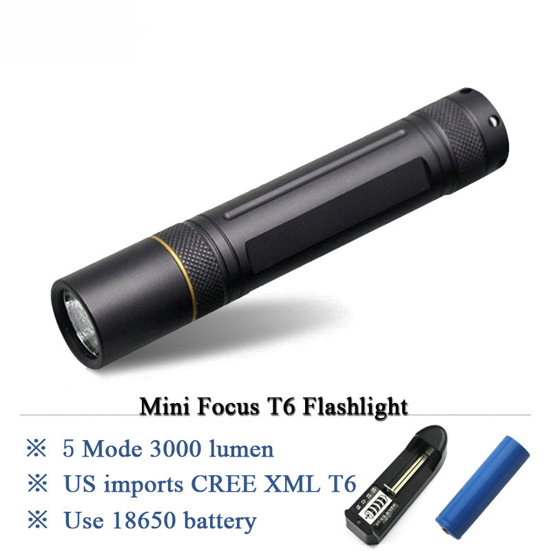 10W high-quality led flashlight CREE XML T6 Flashlight lanterna led torch light linternas led lamp 18650 Rechargeable Battery