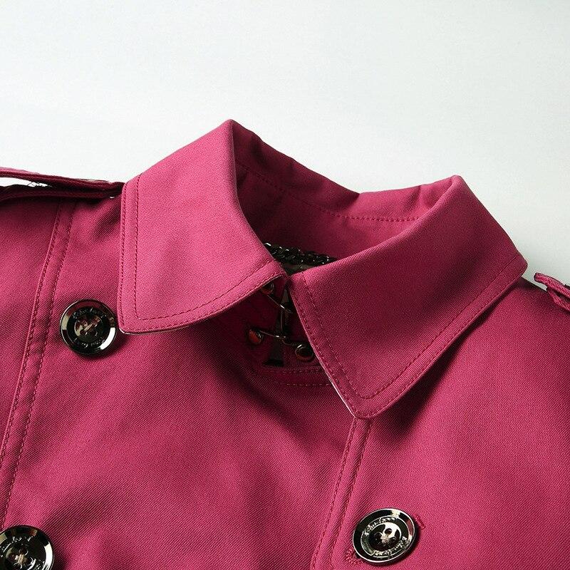 Mince pourpre breasted Nouveau Haut kaki Coupe Double Chart See Vêtements Femmes Mi Revers vent Gamme Anglais Shenzhen Pour longue De Coton qqtFRnrzxw