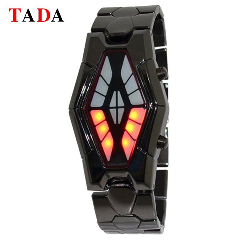 New Binary watches men women snake shape LED design unique new cool Unisex steel Surprise gift watch digital watches jtc головка торцевая torx 1 4 х e6 jtc 22006