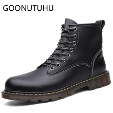 Fashion Men's boots casual leather shoes male autumn winter work army ankle boot man shoe combat military boots for men hot sale spring autum army combat boots leather men work safety shoe steel toe security shoes for men winter snow boot ankle suede