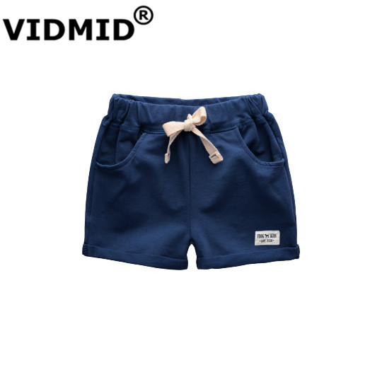 VIDMID baby boys shorts trousers kids knee length shorts children's cotton trousers boys shorts kids boys trousers 1001 09