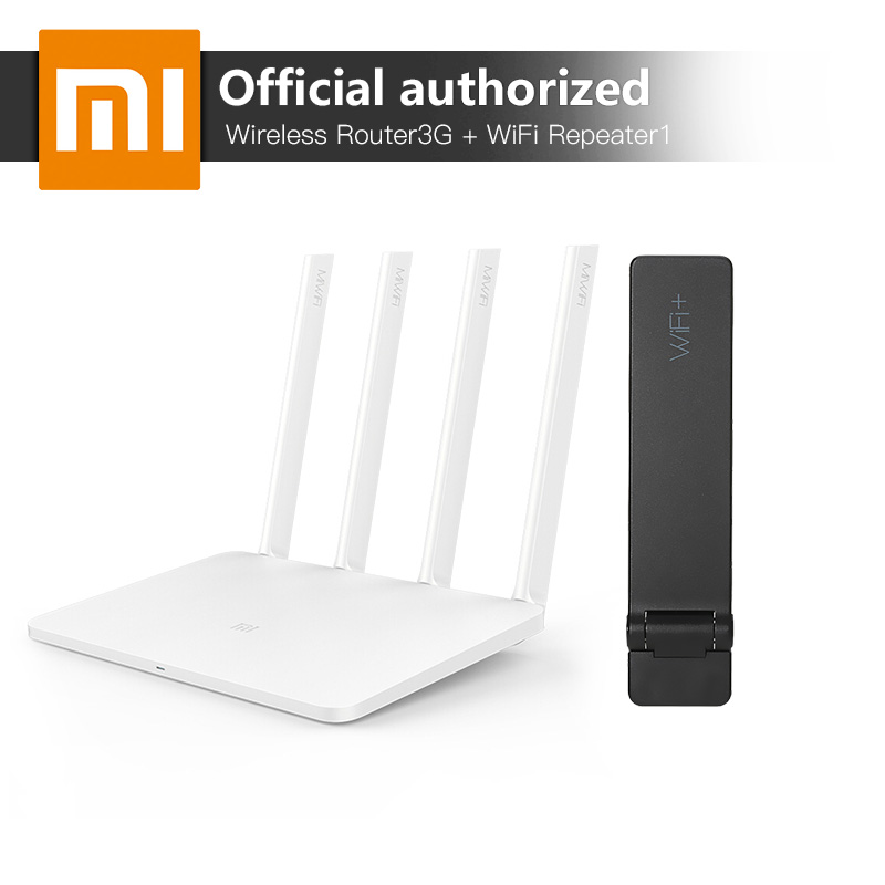 Xiaomi MI WiFi Wireless Router 3G 2.4G/5GHz Dual 128MB Band Flash ROM 256MB Memory And Xiaomi WiFi Repeater 1 Amplifier Extender tp link wifi router wdr6500 gigabit wi fi repeater 1300mbs 11ac dual band wireless 2 4ghz 5ghz 802 11ac