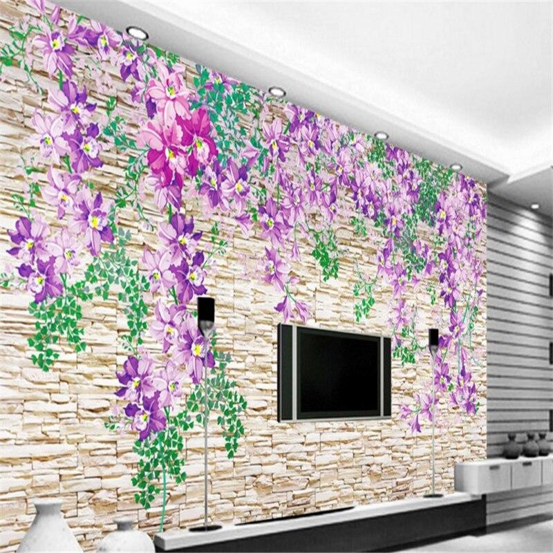 beibehang Large - scale custom wallpaper three - dimensional flow of TV backdrop waterproof wallpaper for bathroom