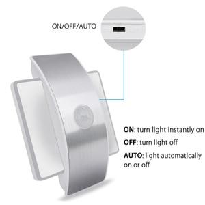 Image 4 - Şarj edilebilir LED kızılötesi PIR hareket sensörü gece lambası kablosuz LED duvar lambası otomatik açık/kapalı çocuk yolu merdiven duvar buzdolabı