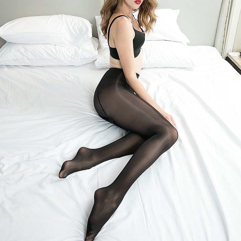 High Quality 8D See Through Oil Shiny High Waist Tights for Women Pantyhose Stockings