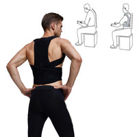 Male Posture Corrector Orthopedic Shoulder Back Pain Lumbar Corset Back Brace Belt Straps Adjustment Female Belt Posture Corset