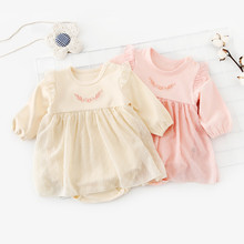 Baby Girl Bodysuits Dress Long Sleeve Newborn Bebes Onesie Top Soft Cotton Little Kids Coveralls 0-24M Children Outfit One Piece цена и фото